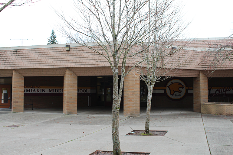 outside view of a school